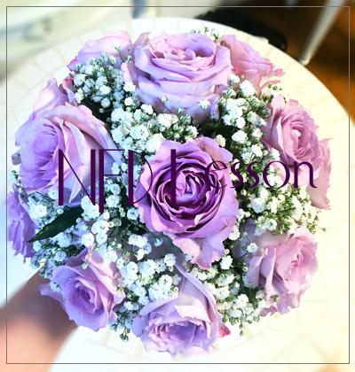 丸い花嫁の花束